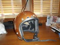 Vintage 70'S  Arthur Fulmer AF20 GOLD Cafe Racer Metalflake Motorcycle Helmet
