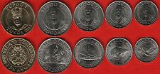 Tonga set of 5 coins: 5 seniti - 1 paanga 2015 Unc