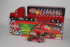BATTERY OPERATED COCA COLA 2002 COMMEMORATIVE NASCAR CARRIER, NEW IN BOX