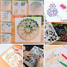 7Pcs/Set DIY Craft Embossing Template Layering Stencils Scrapbooking Painting UK