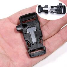 Military Outdoor Bracelet Flint Fire Starter Scraper Kit Safty Whistle Gear Kits