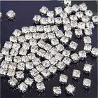FD141 Sewing Clear Crystal Rhinestones Diamond Flatback Craft Dress Makes 100pcs