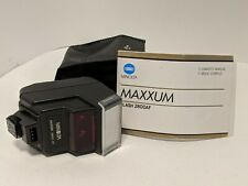 Minolta Maxxum 2800 AF Shoe Mount Flash with case, owner's manual and wide panel