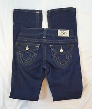 True Religion Becky Boot Cut Womens Size 25 Low Rise Dark Wash Flap Pocket Jeans