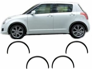 Suzuki Swift 05-10 wheel arch trims 4 pcs Black front rear wing upgrade kit new
