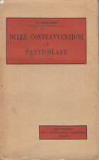 DIRITTO SABATINI GIUSEPPE DELLE CONTRAVVENSIONI IN PARTICOLARE LIBRO III 1937