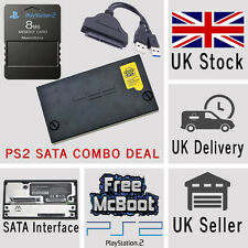 Sony PlayStation2 PS2 SATA Hard Drive Adaptor Adapter 8MB Memory Card McBoot USB