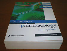 LARGE BOOK FUNDAMENTALS OF PHARMACOLOGY ADDISON-WESLEY SECOND EDITION