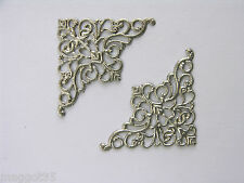 100 Delicate Filigree Metal card corners silver, BULK BUY, BARGAIN