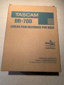 TASCAM linear PCM recorder DR-70D for digital single lens reflex Camera