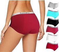 6pk Period Pants Knickers Low Rise Cotton Bikinis Menstrual Leak Proof Underwear