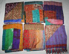 20pc Wholesale Lot Kantha Silk Patchwork Stole Handmade Scarf Bandanaa Bulk Wrap