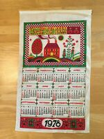 Vintage Linen Calendar 1978 Bless This House Kitchen Textiles