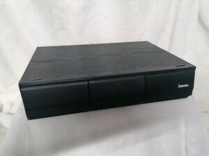 Vintage - 3 Drawer Cassette Holder - Black Ash Wood Effect Holds 36 Tapes - VGC