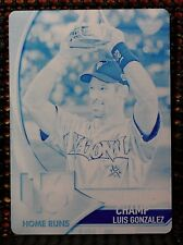 LUIS GONZALEZ - 2017 TOPPS HOME RUN DERBY CHAMPIONS #1 OF 1  CYAN PRINTING PLATE