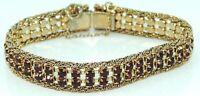 Damen Armkette Vintage vergoldet mit Granat