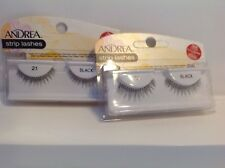 2X   Andrea Strip Lash Pair Style 21 black Includes Adhesive New Sealed