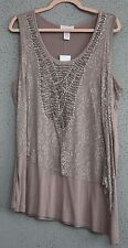 Woman's Plus Size 2X mauve tunic top by Design History Woman NWT