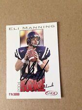 Eli Manning HAND SIGNED 2004 Sage Rookie 1/3200 w/COA RARE Stock #03