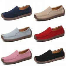 6 Colors Women Outdoor Casual Faux Suede Slip On Loafers Flats Shoes Moccasins L