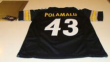 NFL Jersey Pittsburgh Steelers Troy Polamalu Football S Youth TC NWT Black