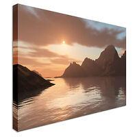 seascape tranquil Canvas Wall Art Picture Print