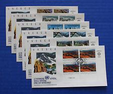 United Nations - 1992 UNESCO World Heritage Inscription Block FDC set