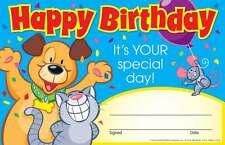30 Niños Cumpleaños Feliz, Su tu día especial de adjudicación de los niños Certificado Pad
