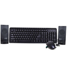 3-in-1 Keyboard Mouse Speakers 3-Piece Set Kit Combo PS/2 Rounded Connector