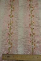 French Antique c1920-30 Pinky Peach Home Floral & Baskets Brocade Lisere Fabric