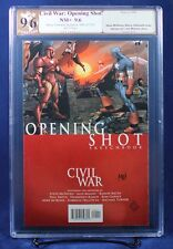 Marvel Civil War: Opening Shot PGX (not CGC) 9.6 NM+ signed by Morry Hollowell