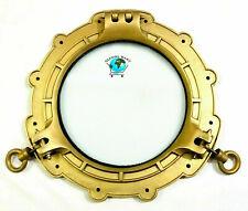 """Vintage Aluminium Brass Antique Porthole 15"""" Nautical Ship Window Porthole Decor"""
