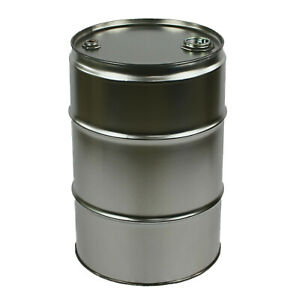 Garagenfass/Spundfass/Stahlfass/Metallfass/Ölfass 60 L NEU, blank/roh/unlackiert