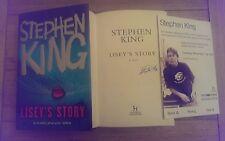 Lisey's Story SIGNED Stephen King Hardback Book UK 1st/3rd + event ticket