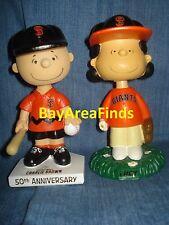 2 San Francisco Giants Peanuts Lucy & Charlie Brown Bobblehead Bobble SGA