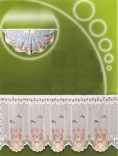 Scheibengardine mit buntem Teddymotiv 160 x 50 cm (BxH) inkl. Vitragenstange