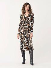 CURRENT S20 Diane Von furstenberg Tilly Silk Crepe De Chine Midi Dress SMALL