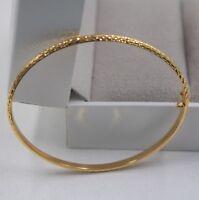 Pure 18k Yellow Gold Bracelet Shining Women Fashion Lady Bangle 56mm 3.5-4.0g