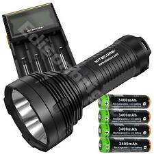 Nitecore TM16 4000 Lumen Tiny Monster CREE LED Flashlight w D4 CHGR & 4X 18650