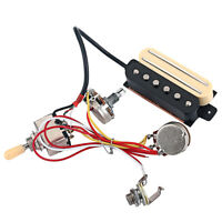 Wired Dual Rail Humbucker Pickup Set for Electric/Cigar Box Guitar Accessory