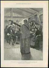 """1888 - Antique Print FINE ART """"For Faith and Freedom"""" Walter Besant  (200)"""