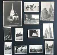 Collection photos anciennes 1945-50 Bretagne Eglise Bazouges  St Malo Carnac CPT
