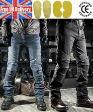 Mens Fitted Motorcycle Jeans Motorbike Pants Denim Trousers Off Road Pad