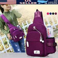 Men Women Nylon Crossbody Sling Shoulder Bag Chest Handbag Girls Travel
