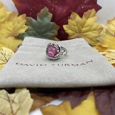 David Yurman  Infinity Pink Tourmaline Ring Size 6 SS/925