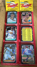 2 X 1987 DONRUSS BASEBALL CARD/PUZZLE BLISTER PACK Featuring Clemente