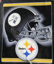 76fe2f597 NFL NWT ROYAL PLUSH RASCHEL THROW BLANKET TONAL HELMET PITTSBURGH STEELERS