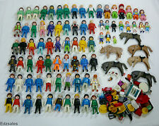 Large Lot of Playmobil Figures, Animals and Accessories