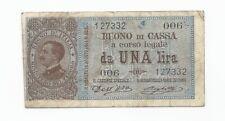 1914 Italy 1 Lira P36a Series 006