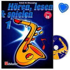 Hören, lesen, spielen, Band 1 Alt-Saxophon (Taschenbuch)